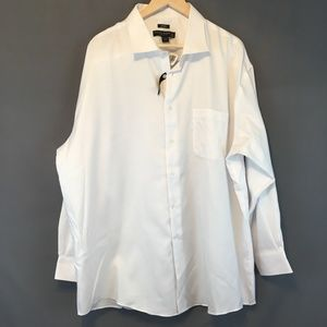 Men's White Pronto Uomo Button Down Dress Shirt